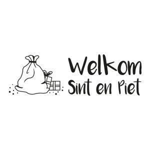 Sinterklaasstickers Welkom Sint en Piet